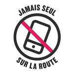 Logo campagne Jamais seul sur la route
