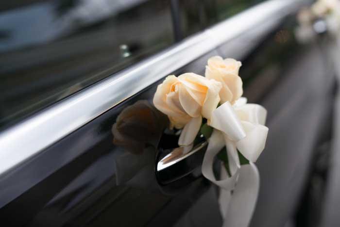 Mariage retour en voiture