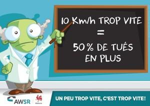 10 km/h TROP VITE = 50% de tué en plus