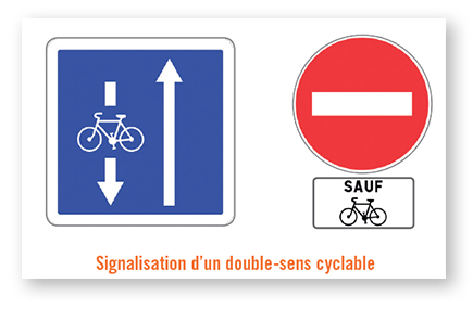 double sens cycliste