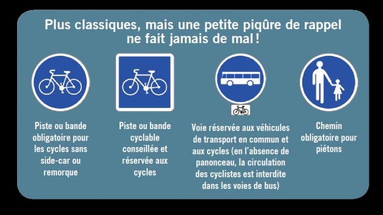 rappel règles cyclistes