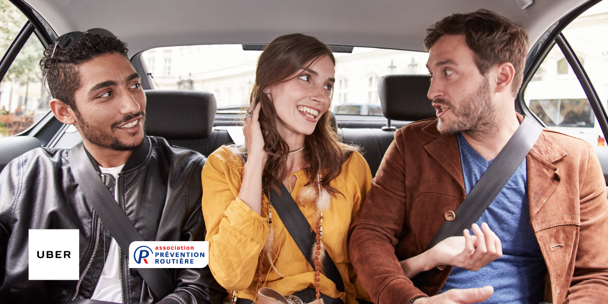 En Uber aussi, la ceinture protège