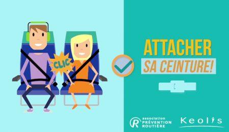 En renouvelant leur campagne de sensibilisation sur la sécurité à bord des autocars, Keolis et l'association Prévention Routière souhaitent faire évoluer le comportement des voyageurs en matière de sécurité