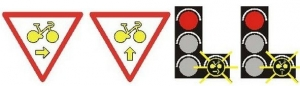 signalisaiton cycliste tourne à droite
