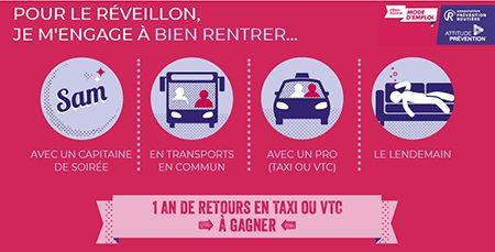 Nouvel An : 6 Français sur 10 concernés par l'alcool et la conduite, n'ont pas pensé aux solutions de retour
