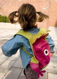 Sur le chemin de l'école à la rentrée scolaire