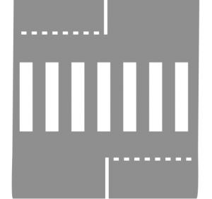 ligne d'effet passage piétons