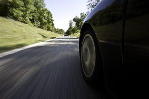 Voiture avec effet vitesse