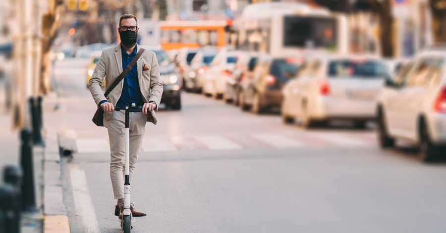 Trottinette masque