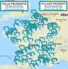 Cartes villes prudentes et villages prudents