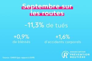 mortalité routière en septembre 2020