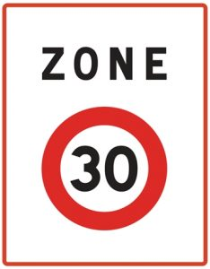 Panneau zone 30